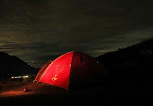 Tenda sudah siap!!!