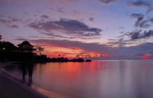 Masih pagi di pantai Nirwana Resort